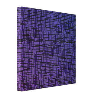 Purple Cross Hatchings Canvas Print