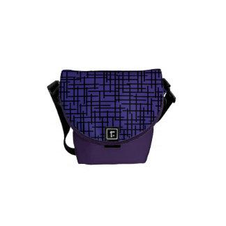 Purple Cross Hatchings Courier Bag