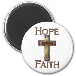 Purple Cross Hope Faith Magnets