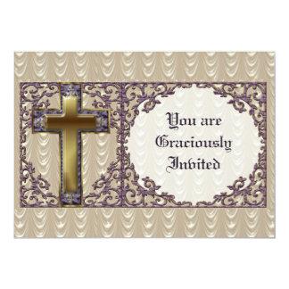 Purple Cross Invitation