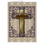 Purple Cross Lined Card