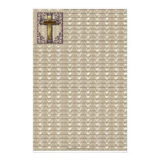 Purple Cross Lined Stationary Customized Stationery