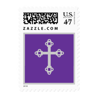 Purple Cross Postage Stamp