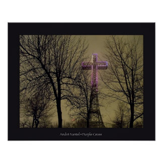 Purple Cross Poster