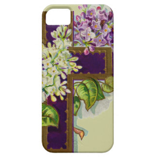Purple Cross With Flowers iPhone SE/5/5s Case
