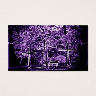 Purple crosses business card