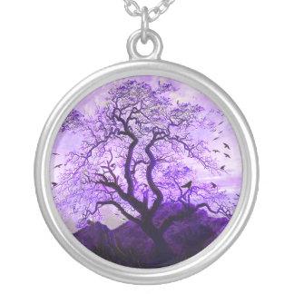 Purple Crow Tree Hills Raven Necklace