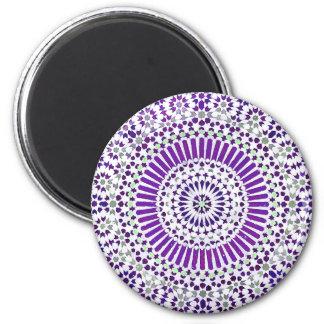 purple crown chakra mosaic circle 2 inch round magnet