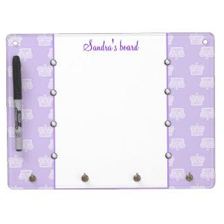 Purple Crown Dry Erase Board