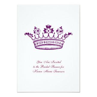 Purple Crown Personalized Invite