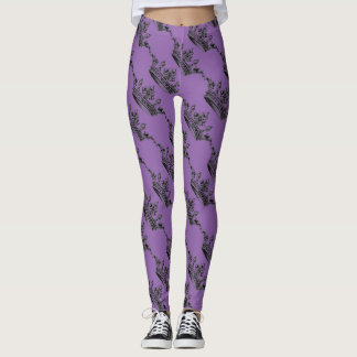 Purple Crown Sporty Athleisure Leggings