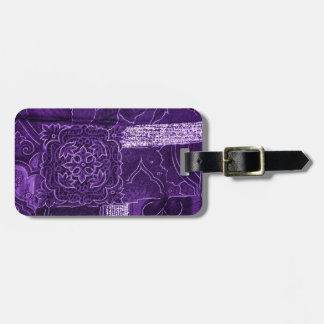 Purple Crushed Velvet Look Tags For Luggage