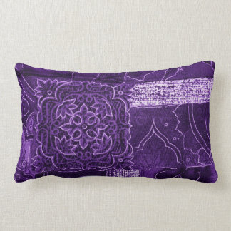 Purple Crushed Velvet Look Pillow