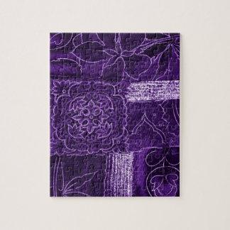 Purple Crushed Velvet Look Jigsaw Puzzles