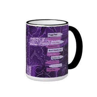 """Purple """"Crushed Velvet"""" Look Ringer Mug"""