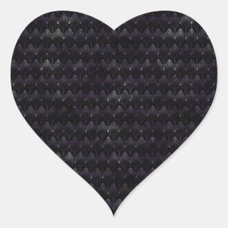 Purple Crystal Alien Skin Heart Stickers
