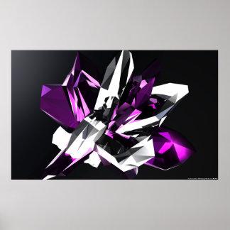Purple Crystal Poster