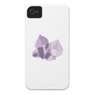 Purple Crystals iPhone 4 Case