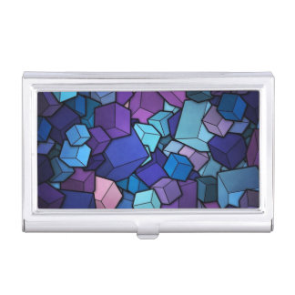 Purple Cubes Case For Business Cards