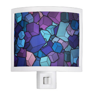 Purple Cubes Night Light