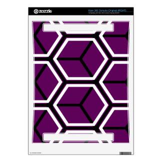 Purple cubes pattern xbox 360 decals