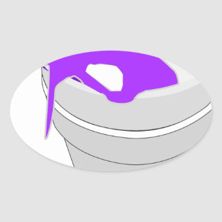 purple cup oval sticker