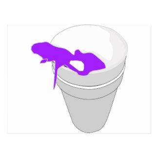 purple cup postcard