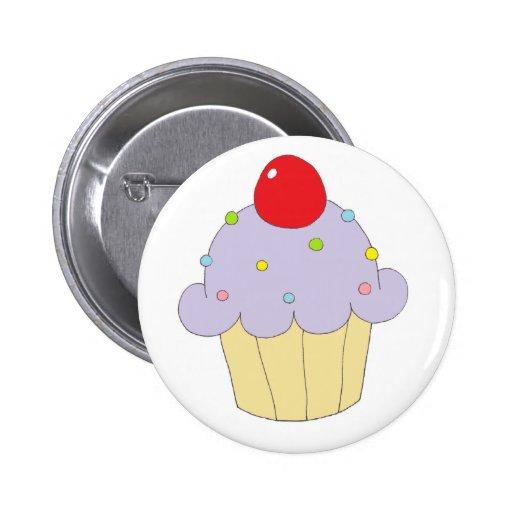 Purple Cupcake 2 Inch Round Button