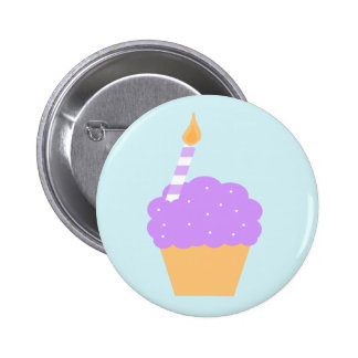 Purple Cupcake Button