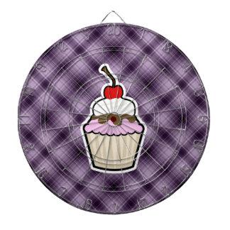 Purple Cupcake Dartboard With Darts