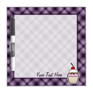 Purple Cupcake Dry Erase Board