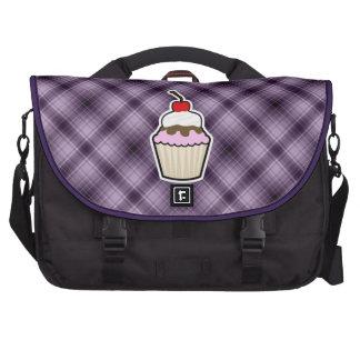 Purple Cupcake Laptop Commuter Bag