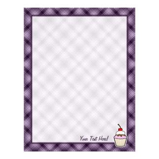 Purple Cupcake Customized Letterhead