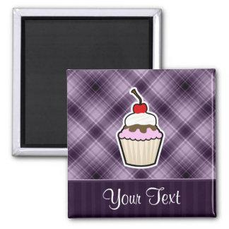 Purple Cupcake Fridge Magnets