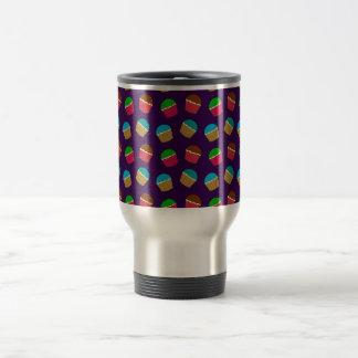 Purple cupcake pattern mugs