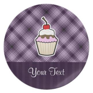 Purple Cupcake Dinner Plate