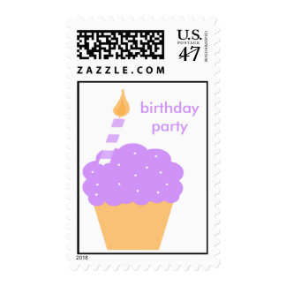 Purple Cupcake Postage