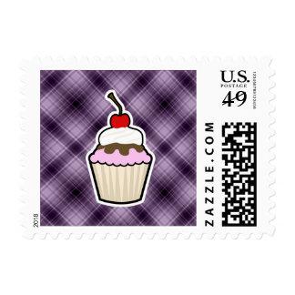 Purple Cupcake Stamp