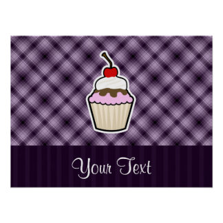 Purple Cupcake Posters