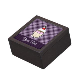 Purple Cupcake Premium Keepsake Boxes
