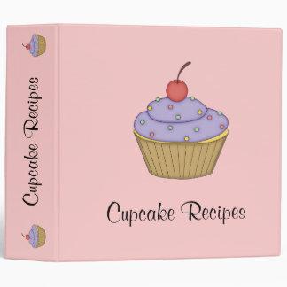 Purple Cupcake Recipe Binder