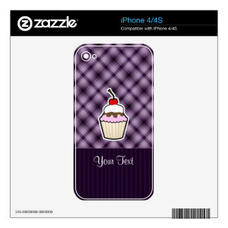 Purple Cupcake Decal For iPhone 4