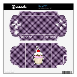Purple Cupcake Skins For The PSP