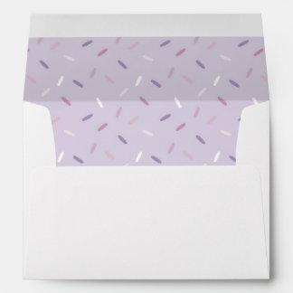 Purple Cupcake Sprinkles Baby Shower Envelope