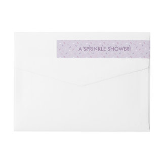 Purple Cupcake Sprinkles Wrap Around Labels