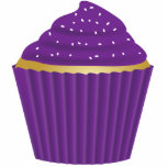 Purple Cupcake with White Sprinkles Photo Cutouts