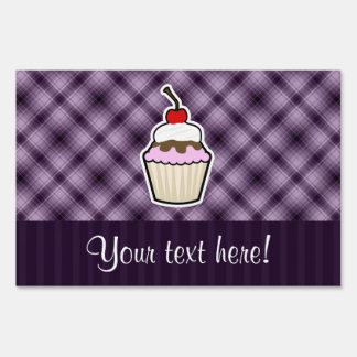 Purple Cupcake Lawn Signs