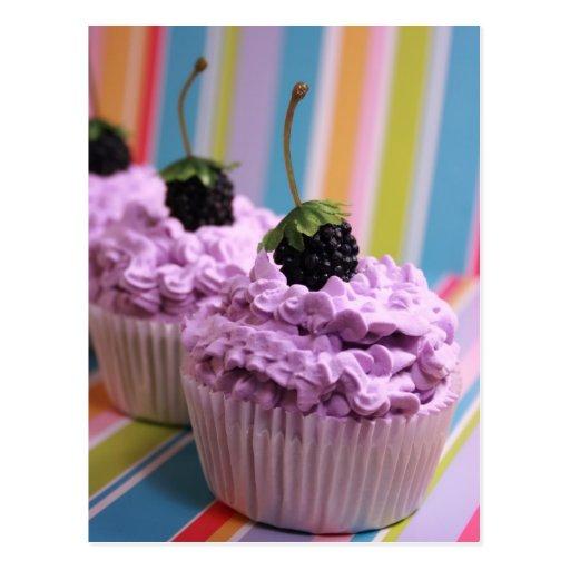 Purple Cupcakes Postcard