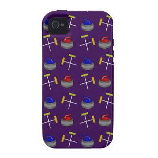 purple curling pattern Case-Mate iPhone 4 case