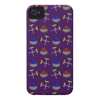 purple curling pattern iPhone 4 Case-Mate case